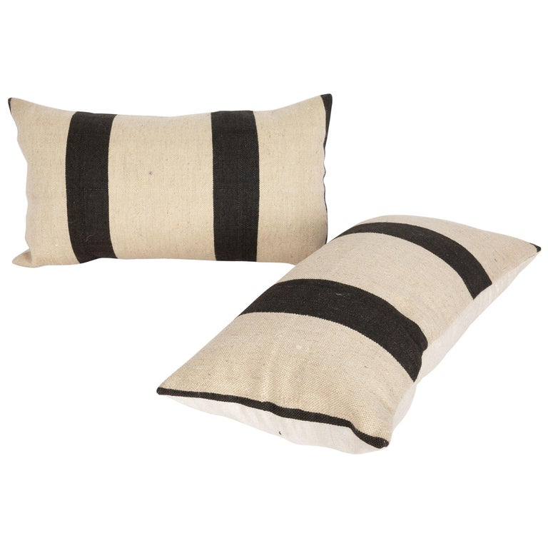 Pillow Case Fashioned from a Contemporary Wool Weaving For Sale
