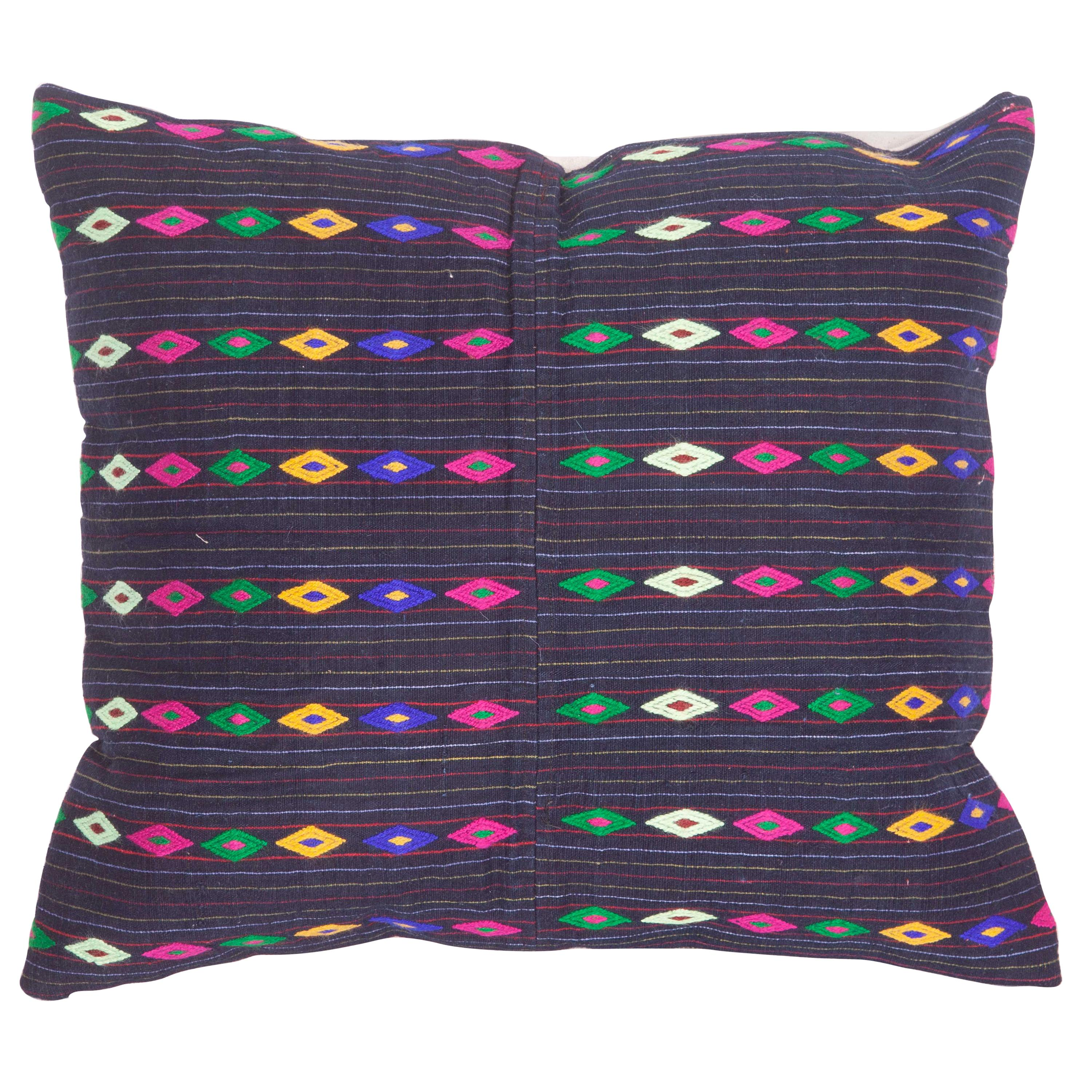 Pillow Case Fashioned from a Mid-20th Century Anatolian Cotton Apron