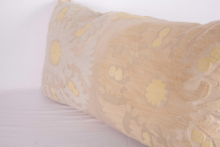 Pillow Case Fashioned from a Mid-20th Century Suzani from Samarkand Uzbekistan For Sale 2