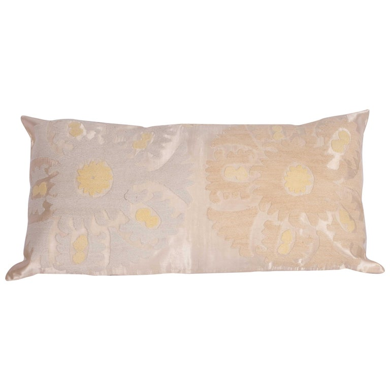 Pillow Case Fashioned from a Mid-20th Century Suzani from Samarkand Uzbekistan For Sale