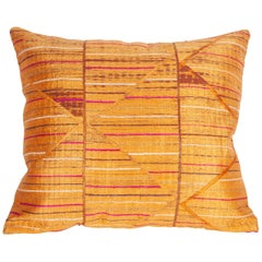 Pillow Case Fashioned from a Phulkari 'Wedding Shawl' from India