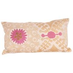 Pillow Case Fashioned from a Samarkand, Uzbek Silk Suzani, Early 20th Century