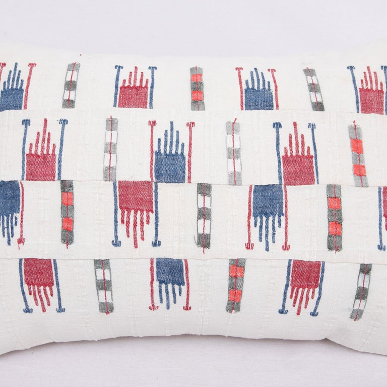 Hand-Woven Pillow Case Fashioned from a Vintage Bulgarian Textile, 1960s For Sale