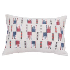 Pillow Case Fashioned from a Vintage Bulgarian Textile, 1960s