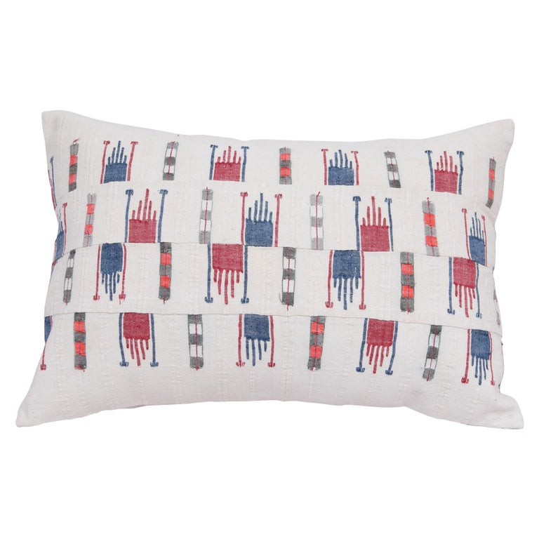 Pillow Case Fashioned from a Vintage Bulgarian Textile, 1960s For Sale