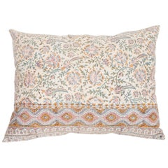 Pillow Case Fashioned from an Antique Indian Qalamkar Panel, Early 20th Century