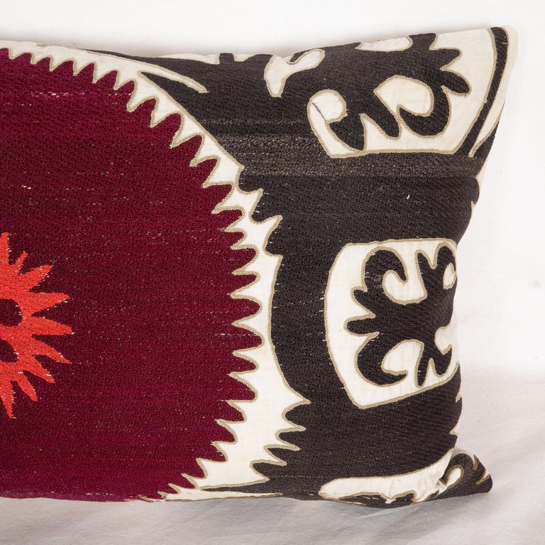 Pillow Case Fashioned from an Early 20th Century Uzbek Suzani In Good Condition For Sale In Istanbul, TR