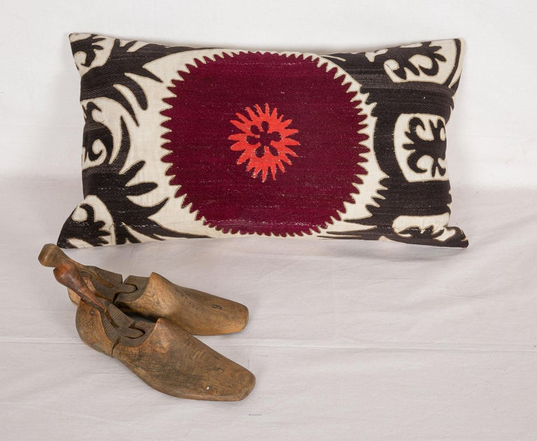 Pillow Case Fashioned from an Early 20th Century Uzbek Suzani For Sale 1
