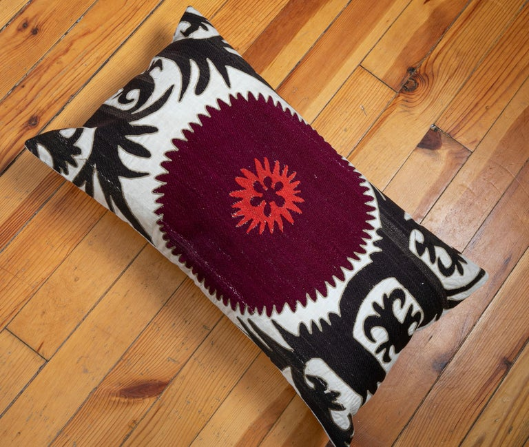 Pillow Case Fashioned from an Early 20th Century Uzbek Suzani For Sale 2