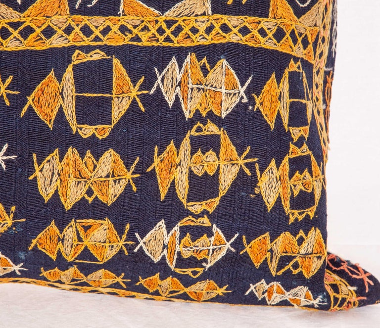 Turkish Pillow Case Fashioned from an Early 20th Century Kurdish Djidjim Kilim For Sale