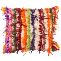 Pillow Case Fashioned from Mid-20th Century Anatolian Angora Filikli Rugs