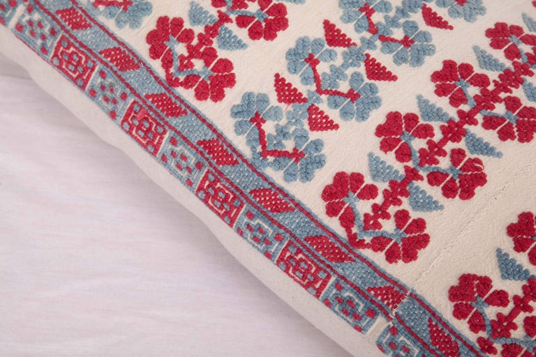 Pillow Case Made from an Antique Embroidered Western Anatolian Dress Skirt In Good Condition For Sale In Istanbul, TR