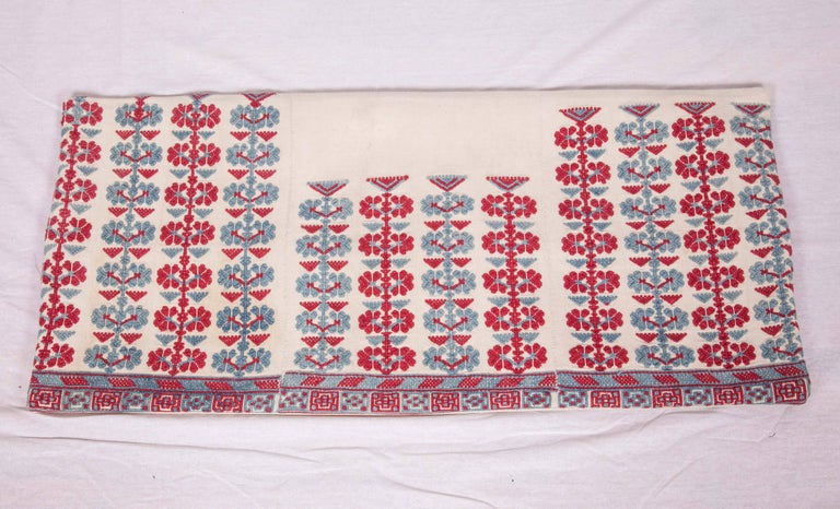 Pillow Case Made from an Antique Embroidered Western Anatolian Dress Skirt For Sale 1