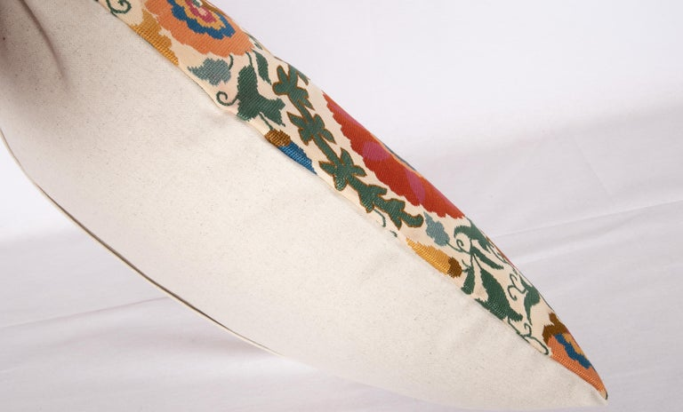 Pillow Case Made from an Early 20th Century Eastern European Embroidered Panel For Sale 1