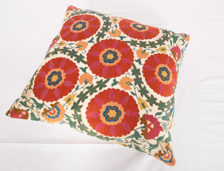 Pillow Case Made from an Early 20th Century Eastern European Embroidered Panel For Sale 2