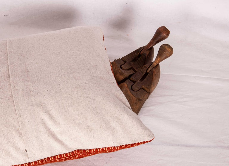 Suzani Pillow Case Made from an Early 20th Century Fez Embroidery from Morocco For Sale