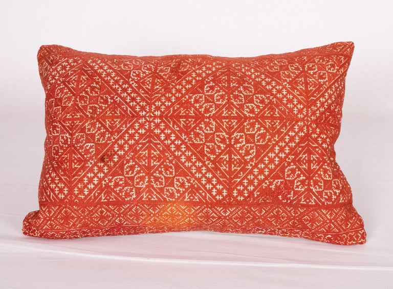 Moroccan Pillow Case Made from an Early 20th Century Fez Embroidery from Morocco For Sale