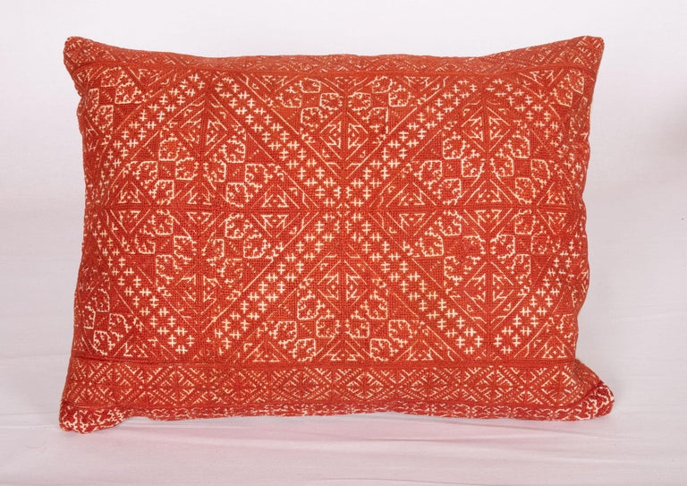 Embroidered Pillow Case Made from an Early 20th Century Fez Embroidery from Morocco For Sale