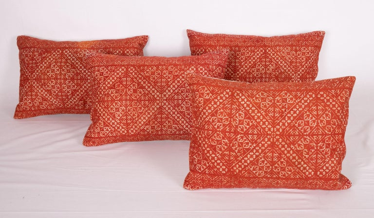 Pillow Case Made from an Early 20th Century Fez Embroidery from Morocco For Sale 1