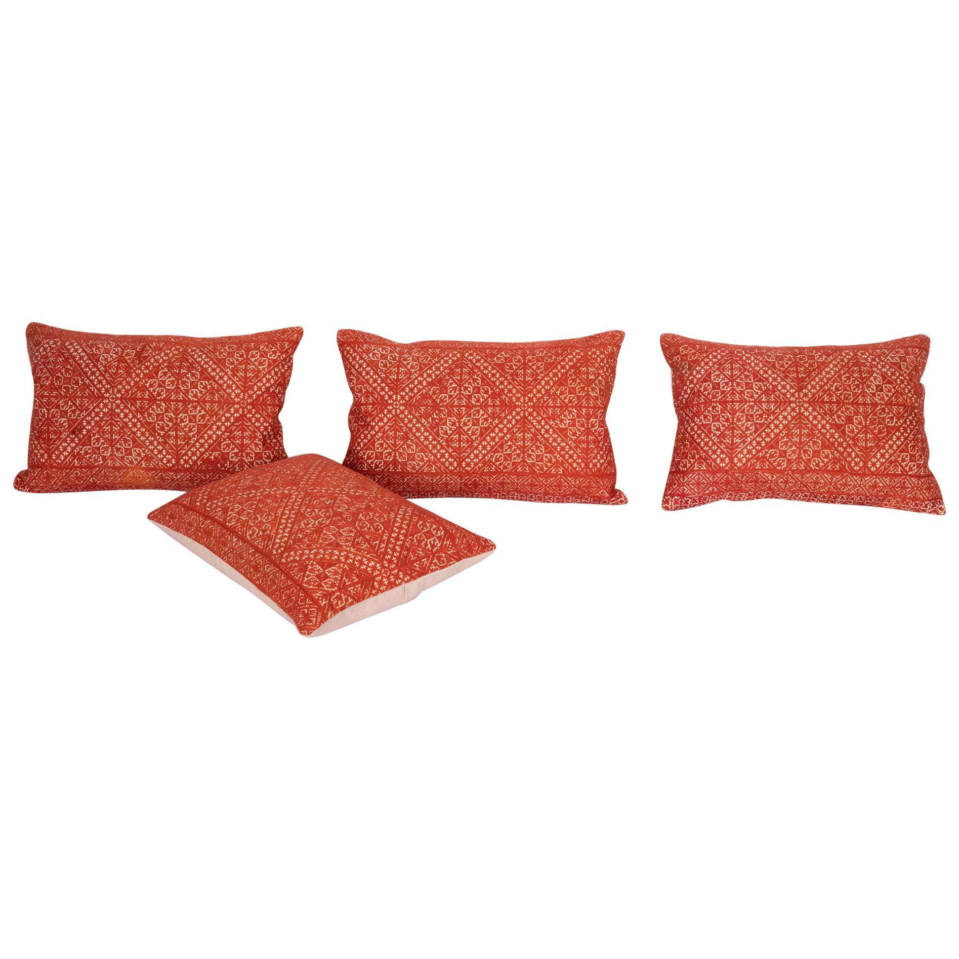 Pillow Case Made from an Early 20th Century Fez Embroidery from Morocco