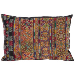 Pillow Case Made from an Early 20th Century Miao Embroidered Apron