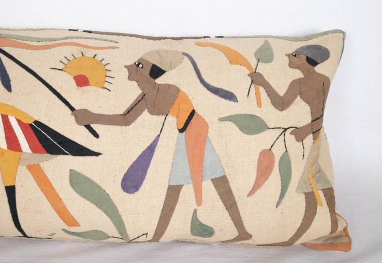 Pillow Case Made from an Egyptian Applique 'Khayamiya' Panel, Late 20th Century In Good Condition For Sale In Istanbul, TR