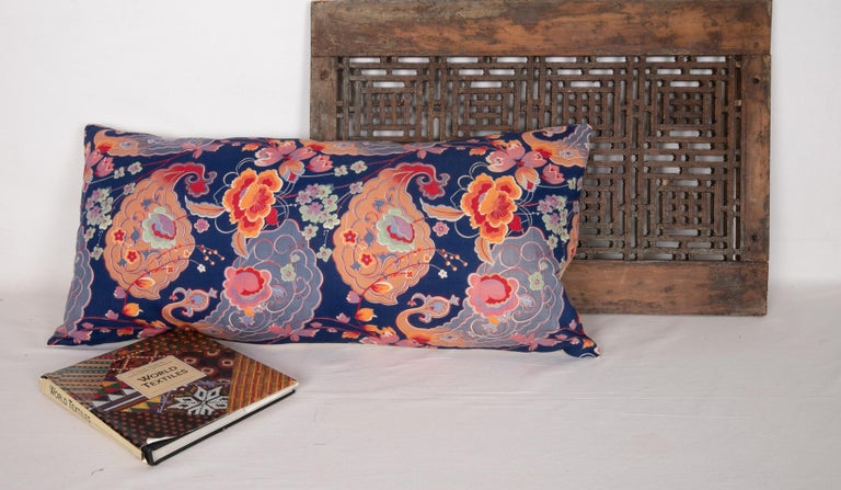 Mid-Century Modern Pillow Case Made from Mid-20th Century Russian Cotton Printed Textile, 1960s For Sale