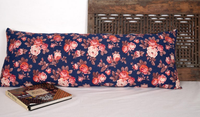 Woven Pillow Case Made from Mid-20th Century Russian Cotton Printed Textile, 1960s For Sale