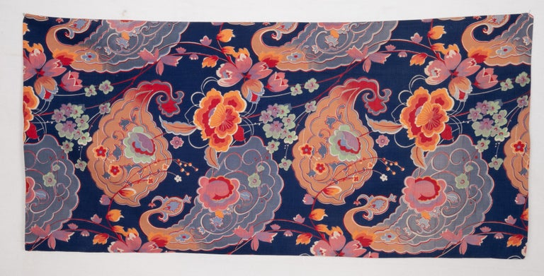 Pillow Case Made from Mid-20th Century Russian Cotton Printed Textile, 1960s In Good Condition For Sale In Istanbul, TR