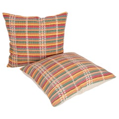 Pillow Cases Fashioned from a Mid-20th Century Afghan Hazara Embroidery
