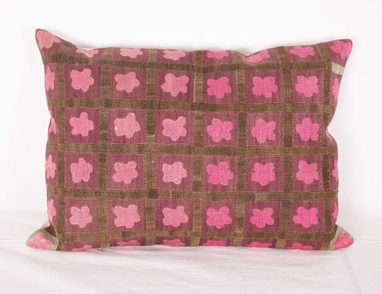 Pillow Cases Fashioned from a Mid-20th Century Tashkent Suzani, Uzbekistan In Good Condition For Sale In Istanbul, TR
