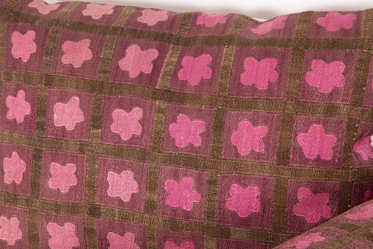 Pillow Cases Fashioned from a Mid-20th Century Tashkent Suzani, Uzbekistan For Sale 2