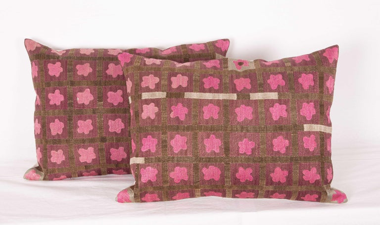 Pillow Cases Fashioned from a Mid-20th Century Tashkent Suzani, Uzbekistan For Sale 3