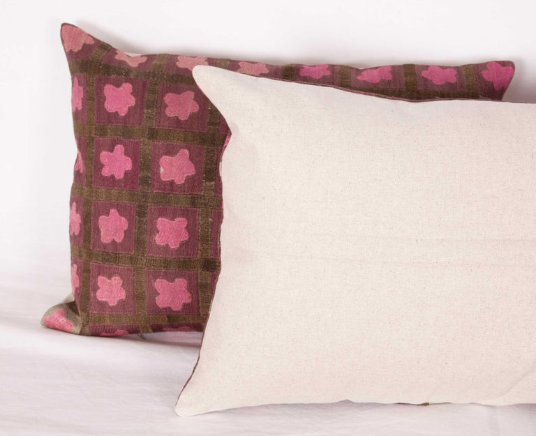 Pillow Cases Fashioned from a Mid-20th Century Tashkent Suzani, Uzbekistan For Sale 4
