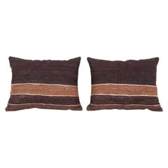 Pillow Cases Fashioned from a Mid-20th Century Anatolian Angora Siirt Blanket