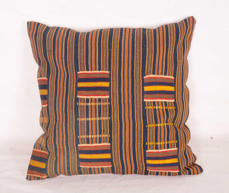 Ghanaian Pillow Cases Fashioned from African Kente Cloth, First Half of the 20th Century For Sale