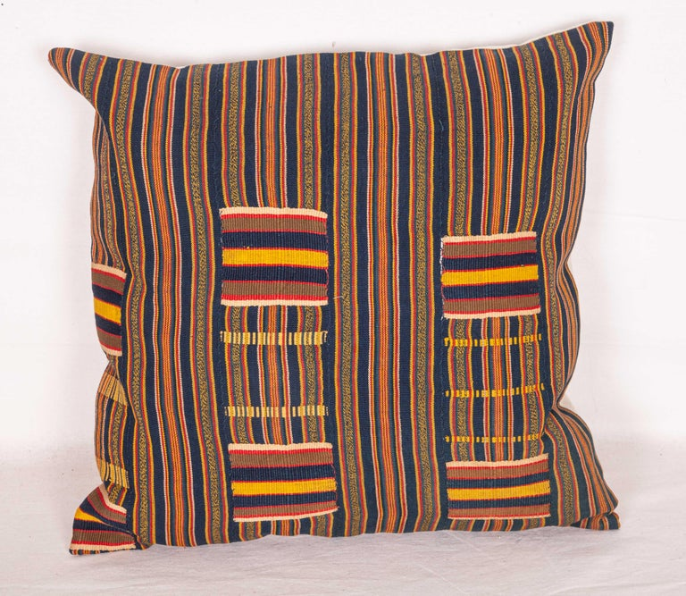 Hand-Woven Pillow Cases Fashioned from African Kente Cloth, First Half of the 20th Century For Sale