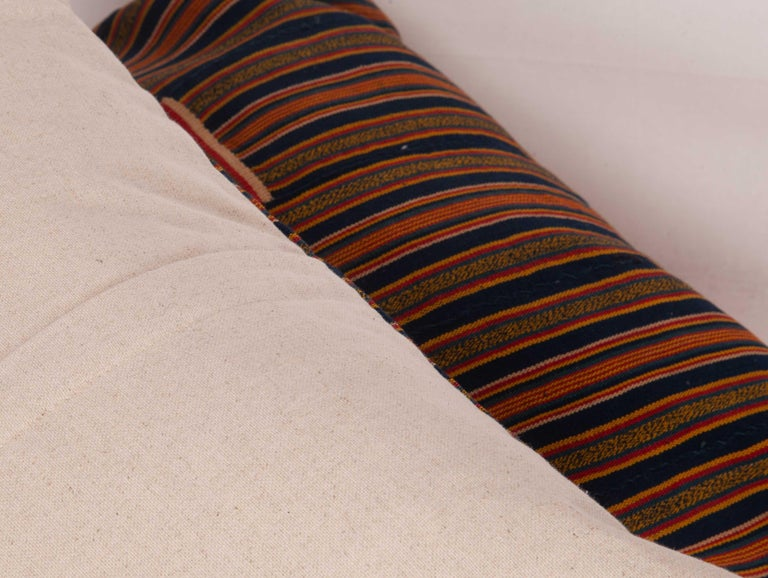 Cotton Pillow Cases Fashioned from African Kente Cloth, First Half of the 20th Century For Sale