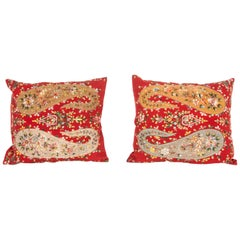 Pillow Cases Fashioned from an Early 20th Century Indian Shawl