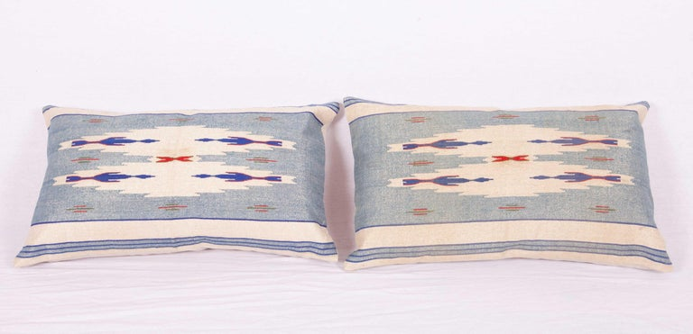 Kilim Pillow Cases Fashioned from an Early 20th Century Syrian Textile For Sale
