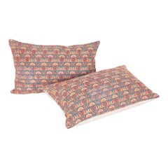 Pillow Cases Fashioned from an Early 20th Century Indian Embroidery