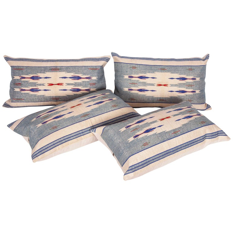 Pillow Cases Fashioned from an Early 20th Century Syrian Textile For Sale