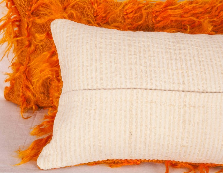 Turkish Pillow Cases Fashioned from Mid-20th Century Anatolian Angora Filikli Rugs For Sale