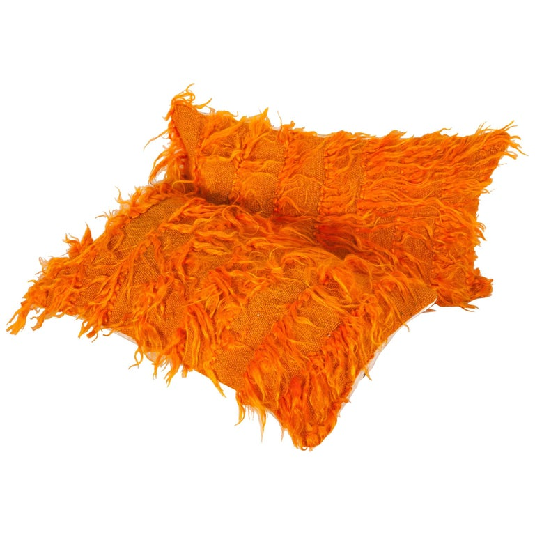 Pillow Cases Fashioned from Mid-20th Century Anatolian Angora Filikli Rugs For Sale