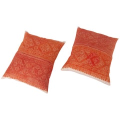 Pillow Cases Made from an Early 20th Century Fez Embroidery from Morocco