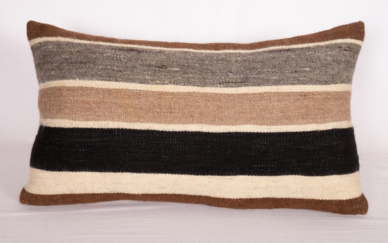 Kilim Pillow Cases Made from Anatolian Angora Siirt Blanket, 1960s-1970s For Sale