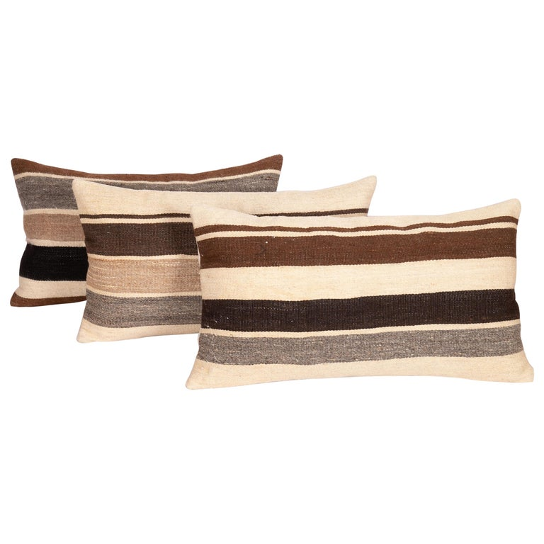 Pillow Cases Made from Anatolian Angora Siirt Blanket, 1960s-1970s For Sale