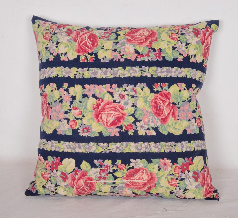 Woven Pillow Cases Made from Mid-20th Century Russian Cotton Printed Textile, 1960s For Sale