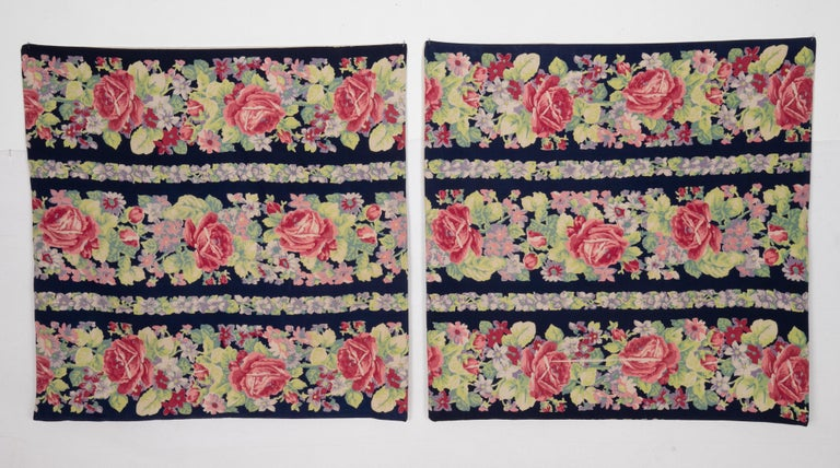 Pillow Cases Made from Mid-20th Century Russian Cotton Printed Textile, 1960s For Sale 2