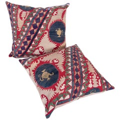 Pillow / Cushion Cases Fashioned from a Midcentury Suzani
